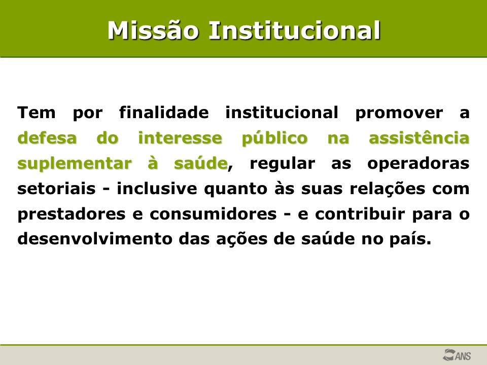 Missão Institucional