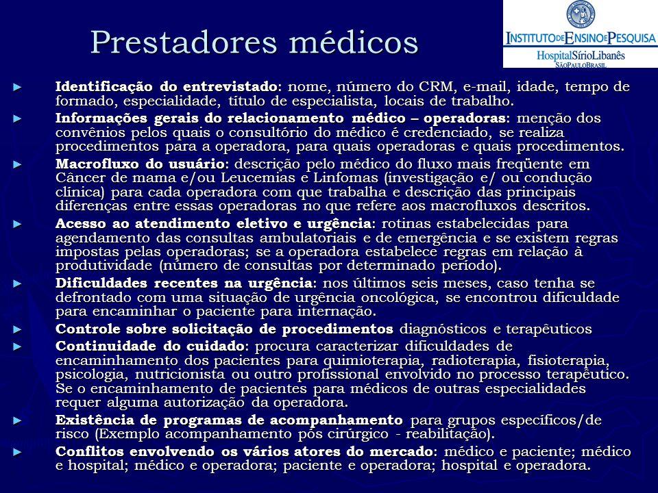 Prestadores médicos