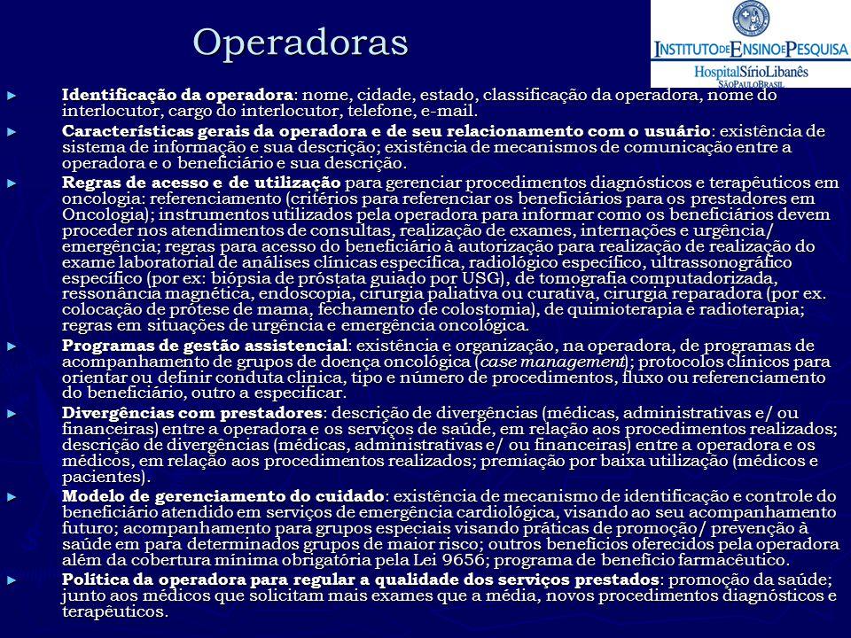 Operadoras
