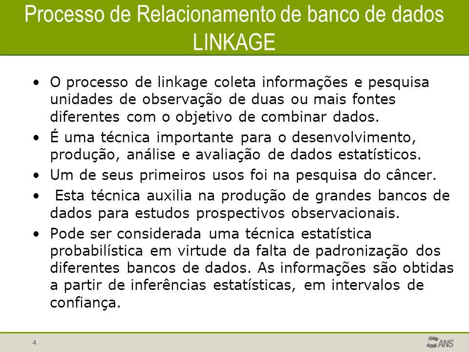 Processo de Relacionamento de banco de dados LINKAGE