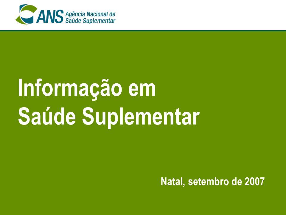 Informação em Saúde Suplementar Natal, setembro de 2007