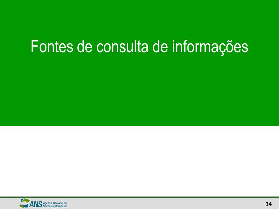 Fontes de consulta de informações