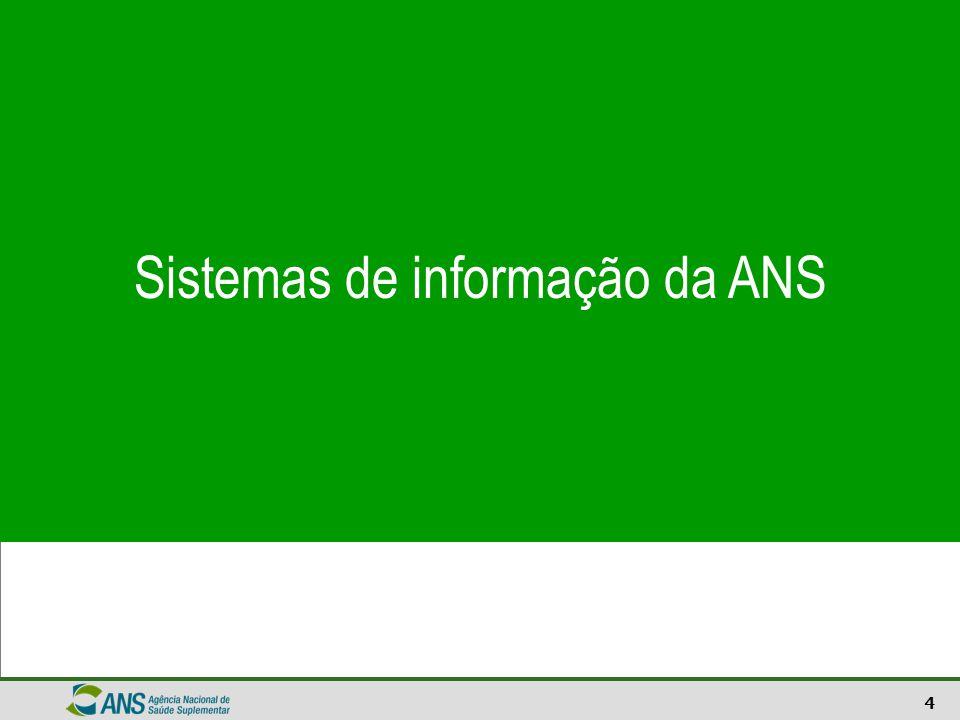 Sistemas de informação da ANS