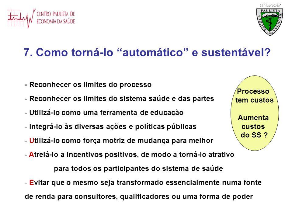 7. Como torná-lo automático e sustentável