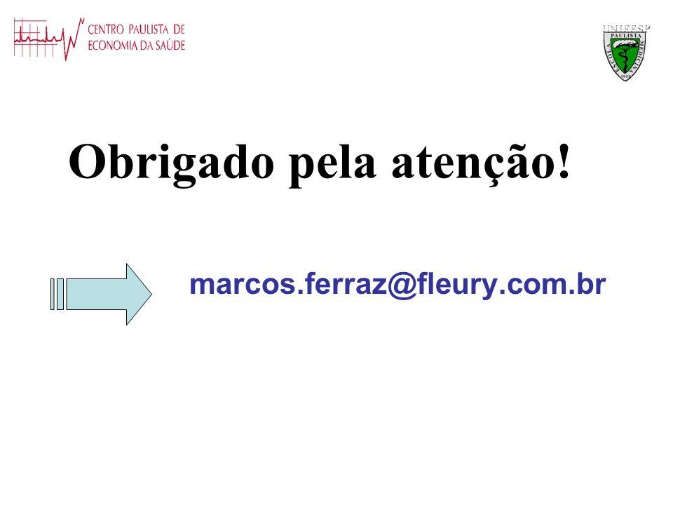 UNIFESP Obrigado pela atenção! marcos.ferraz@fleury.com.br