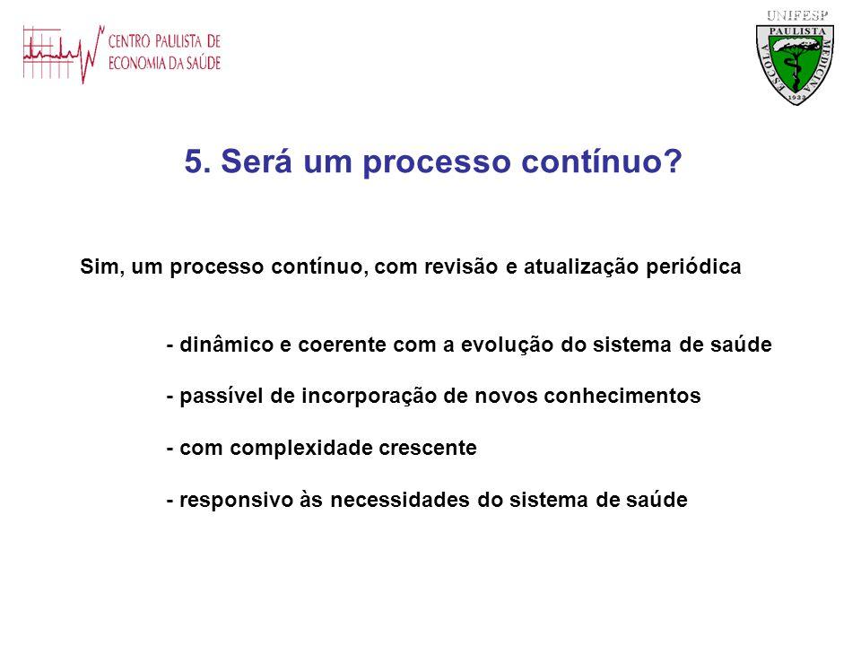 5. Será um processo contínuo
