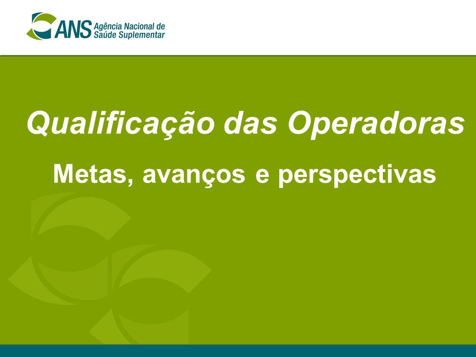 Qualificação das Operadoras Metas, avanços e perspectivas