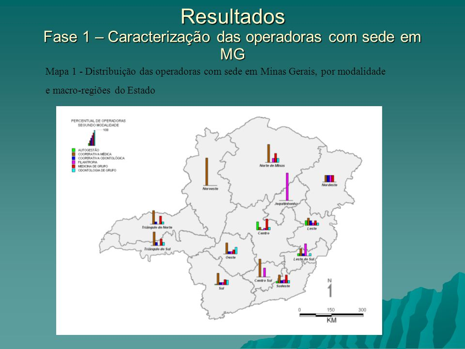 Resultados Fase 1 – Caracterização das operadoras com sede em MG
