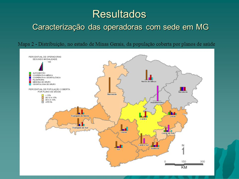 Resultados Caracterização das operadoras com sede em MG