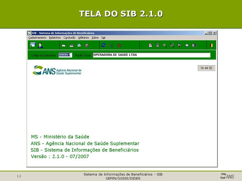 TELA DO SIB 2.1.0