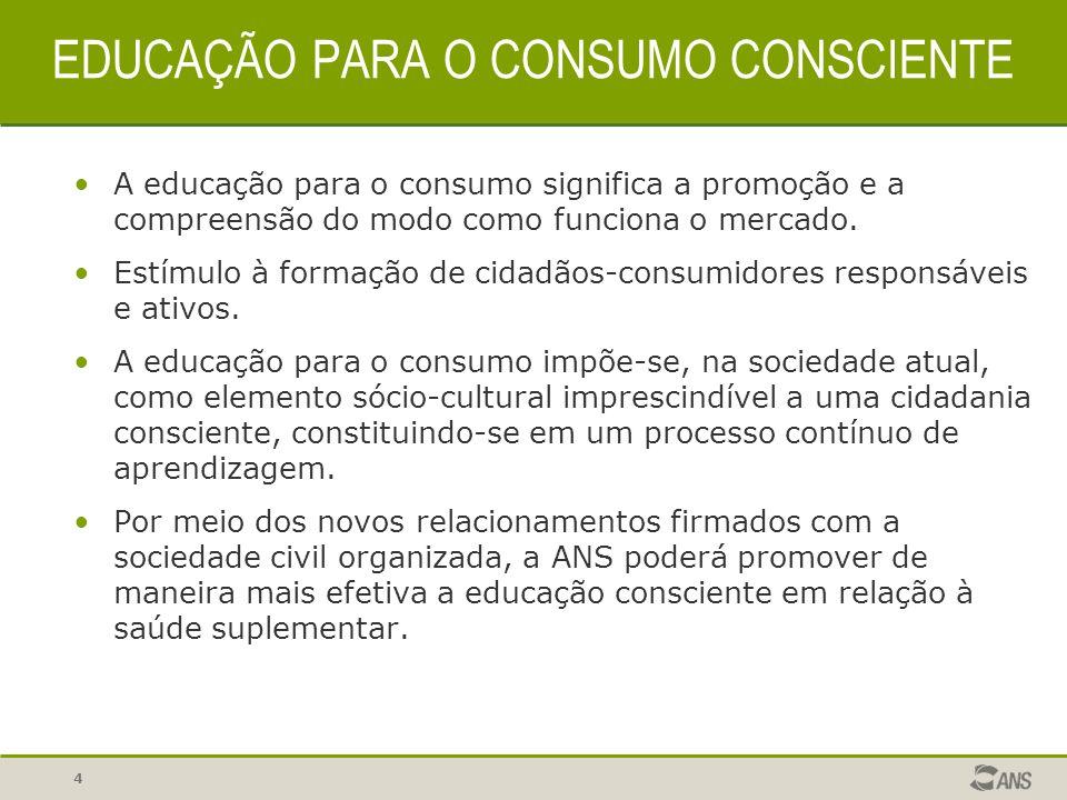 EDUCAÇÃO PARA O CONSUMO CONSCIENTE