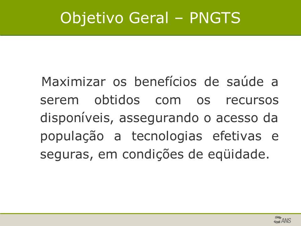 Objetivo Geral – PNGTS