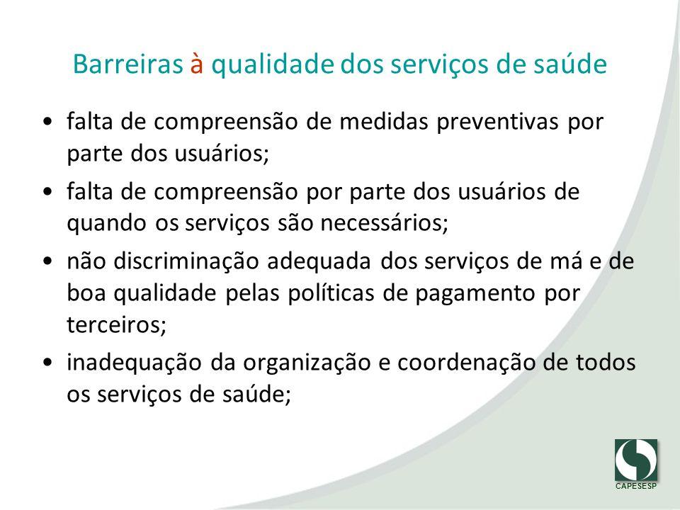 Barreiras à qualidade dos serviços de saúde