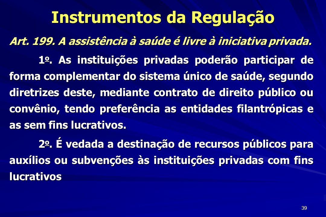 Instrumentos da Regulação