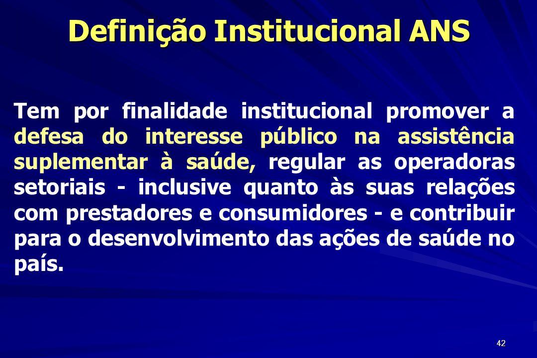 Definição Institucional ANS