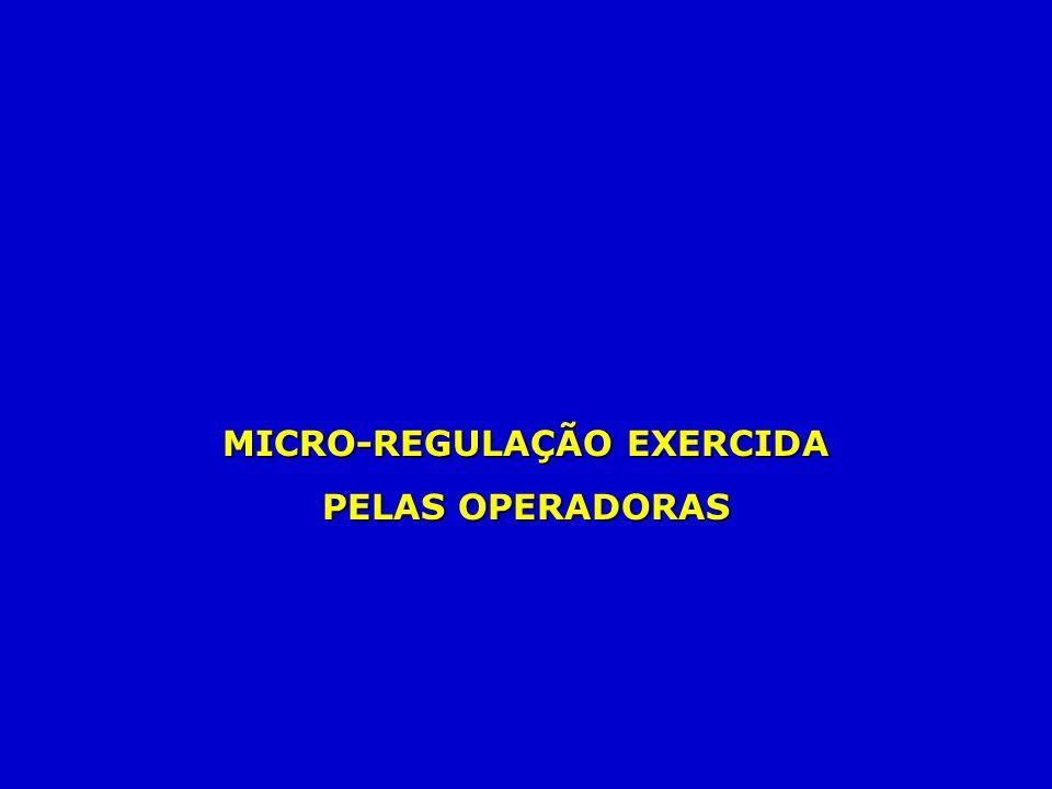 MICRO-REGULAÇÃO EXERCIDA