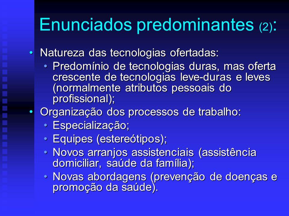 Enunciados predominantes (2):