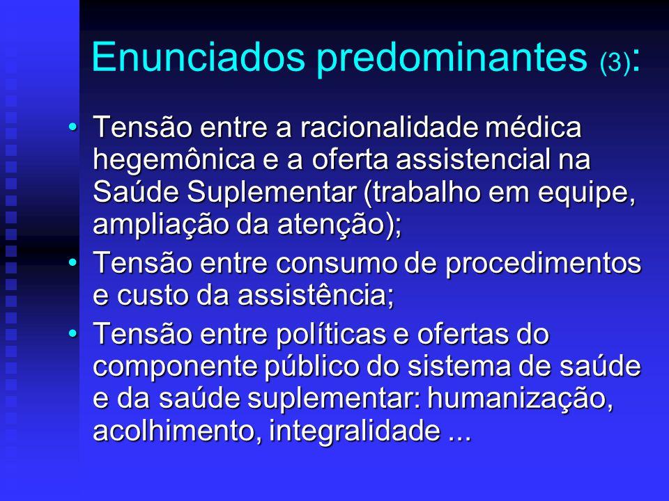 Enunciados predominantes (3):