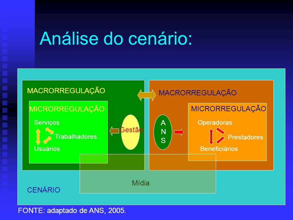Análise do cenário: MACRORREGULAÇÃO MACRORREGULAÇÃO MICRORREGULAÇÃO