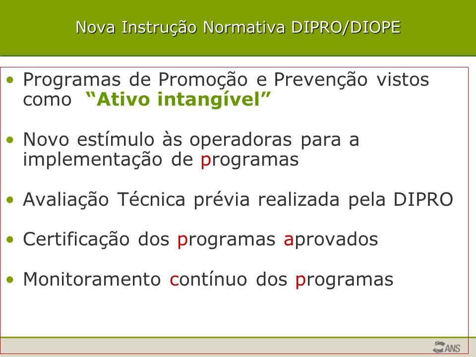 Nova Instrução Normativa DIPRO/DIOPE