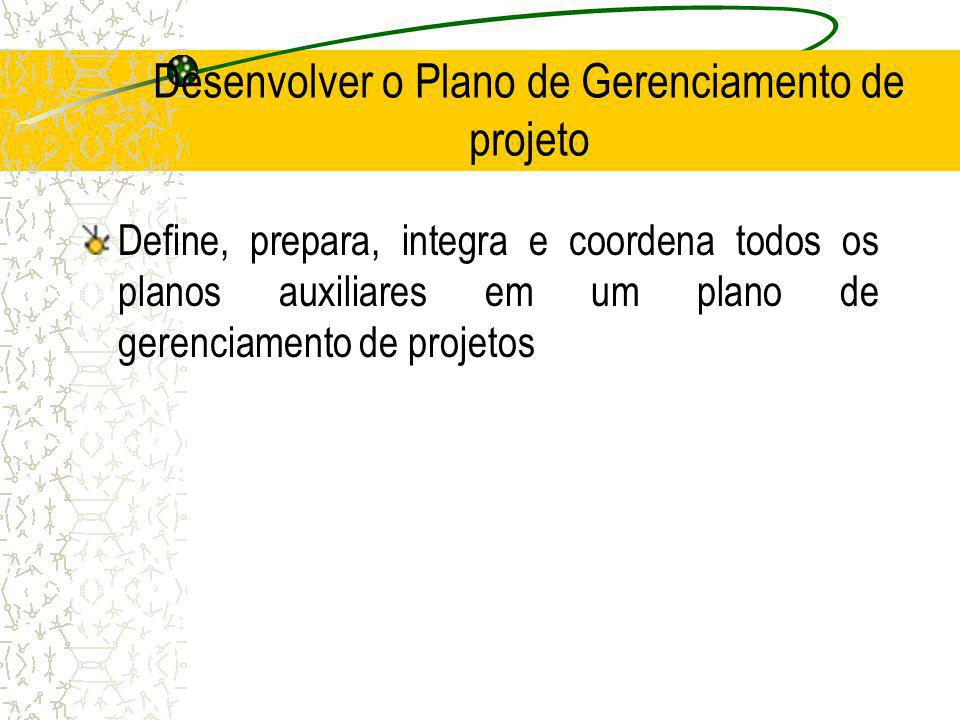 Desenvolver o Plano de Gerenciamento de projeto