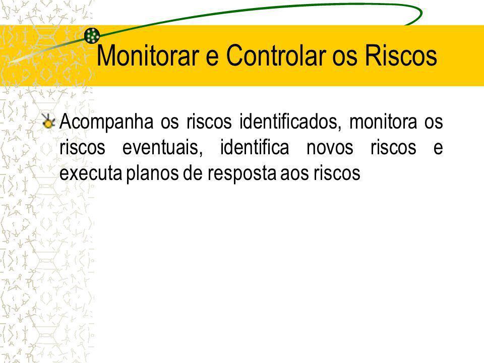 Monitorar e Controlar os Riscos