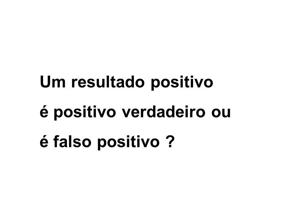 Um resultado positivo é positivo verdadeiro ou é falso positivo