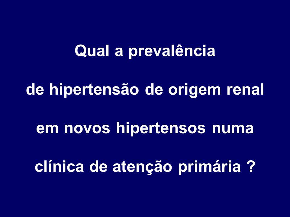 de hipertensão de origem renal em novos hipertensos numa