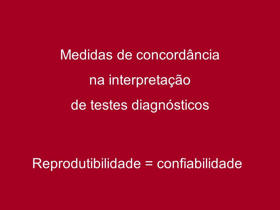 Medidas de concordância na interpretação de testes diagnósticos