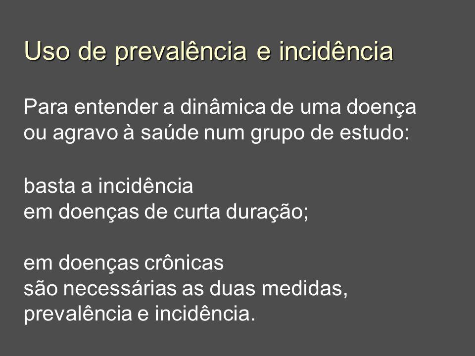 Uso de prevalência e incidência
