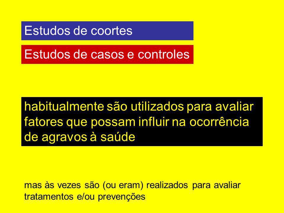 Estudos de casos e controles