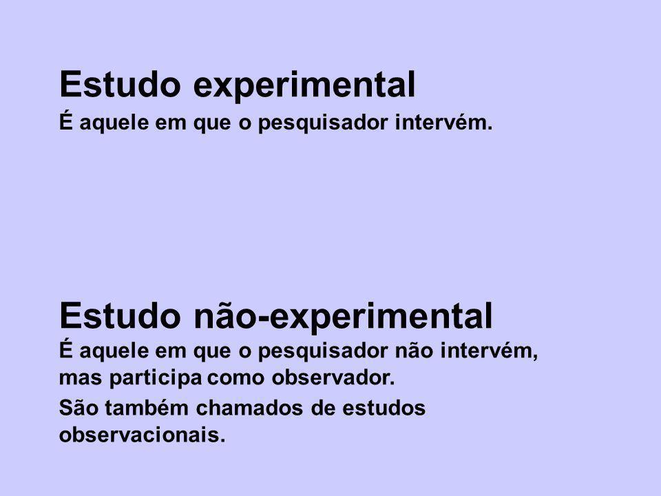 Estudo não-experimental