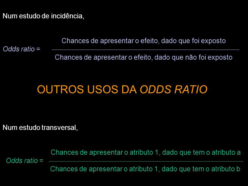 OUTROS USOS DA ODDS RATIO