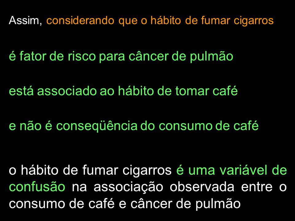 Assim, considerando que o hábito de fumar cigarros