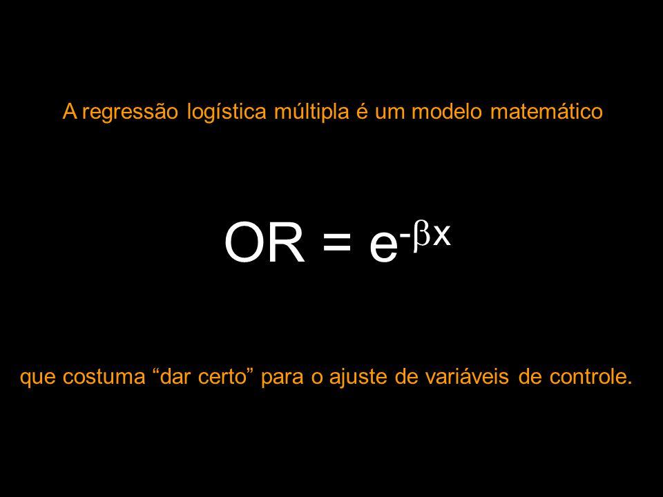 A regressão logística múltipla é um modelo matemático
