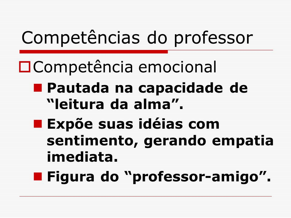 Competências do professor