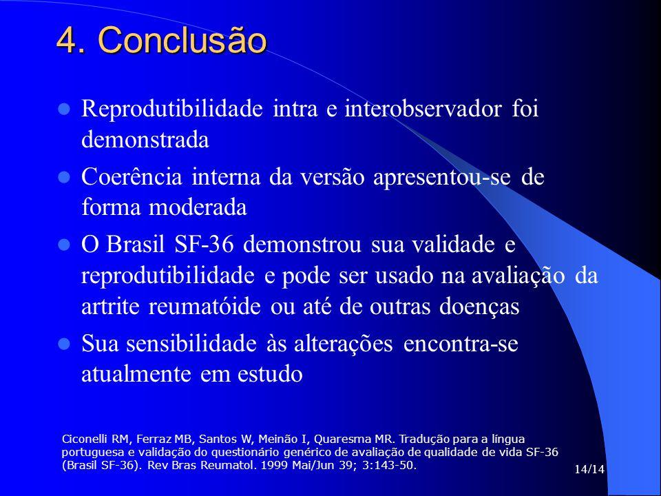 4. Conclusão Reprodutibilidade intra e interobservador foi demonstrada