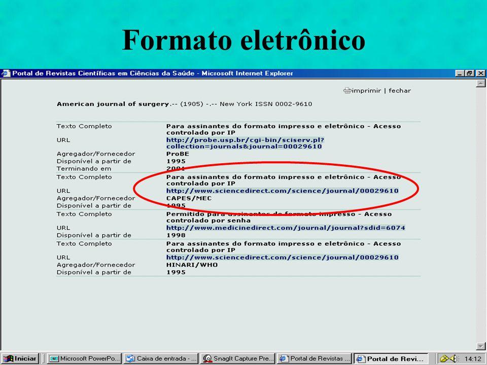 Formato eletrônico