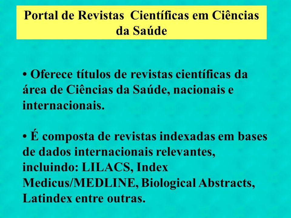 Portal de Revistas Científicas em Ciências da Saúde