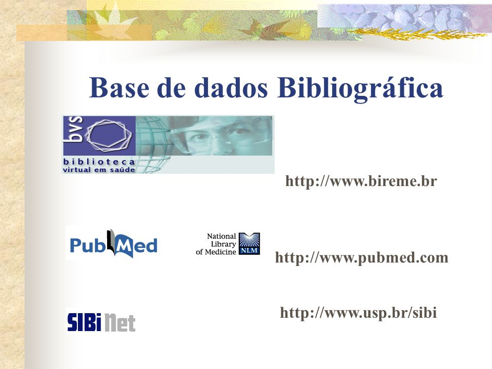 Base de dados Bibliográfica