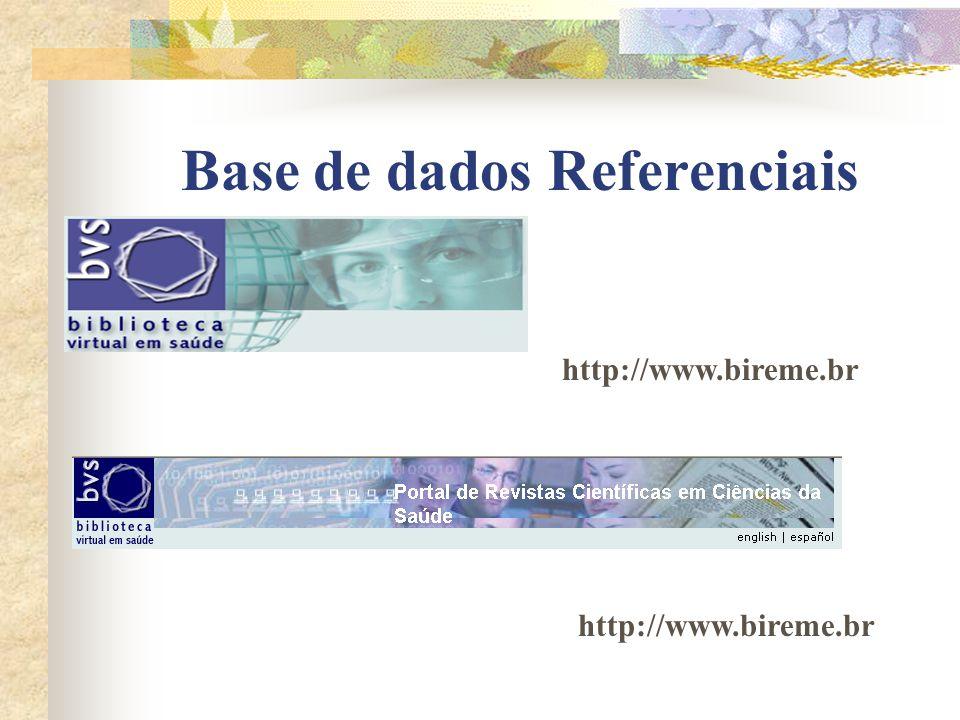 Base de dados Referenciais