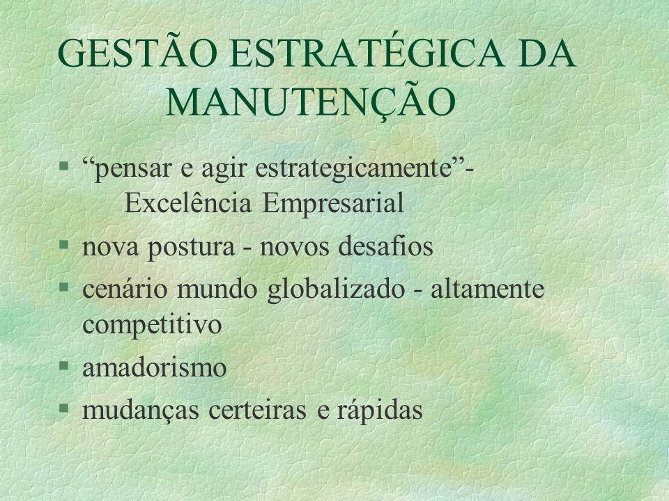 GESTÃO ESTRATÉGICA DA MANUTENÇÃO