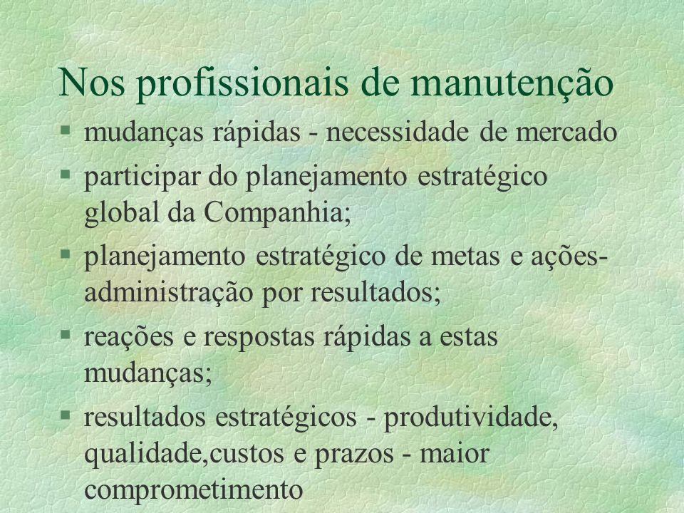 Nos profissionais de manutenção