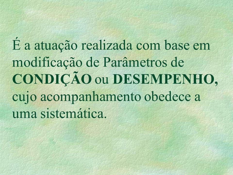 É a atuação realizada com base em modificação de Parâmetros de CONDIÇÃO ou DESEMPENHO, cujo acompanhamento obedece a uma sistemática.