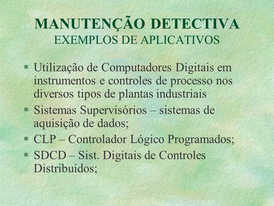 MANUTENÇÃO DETECTIVA EXEMPLOS DE APLICATIVOS