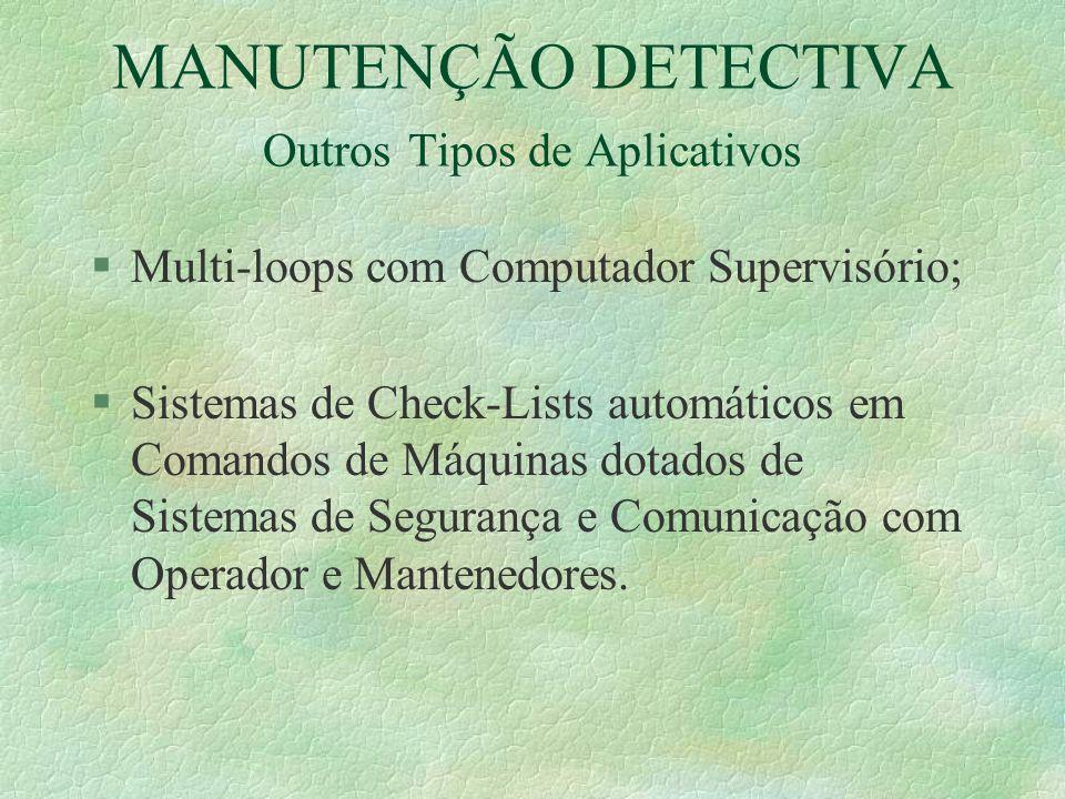 MANUTENÇÃO DETECTIVA Outros Tipos de Aplicativos