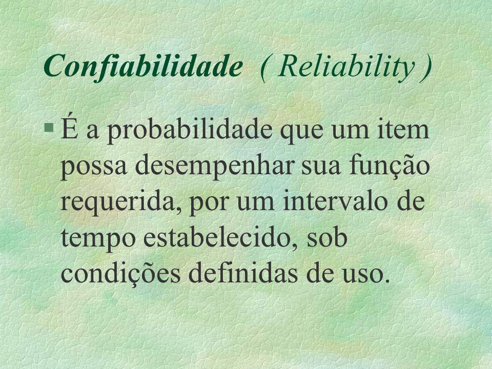 Confiabilidade ( Reliability )