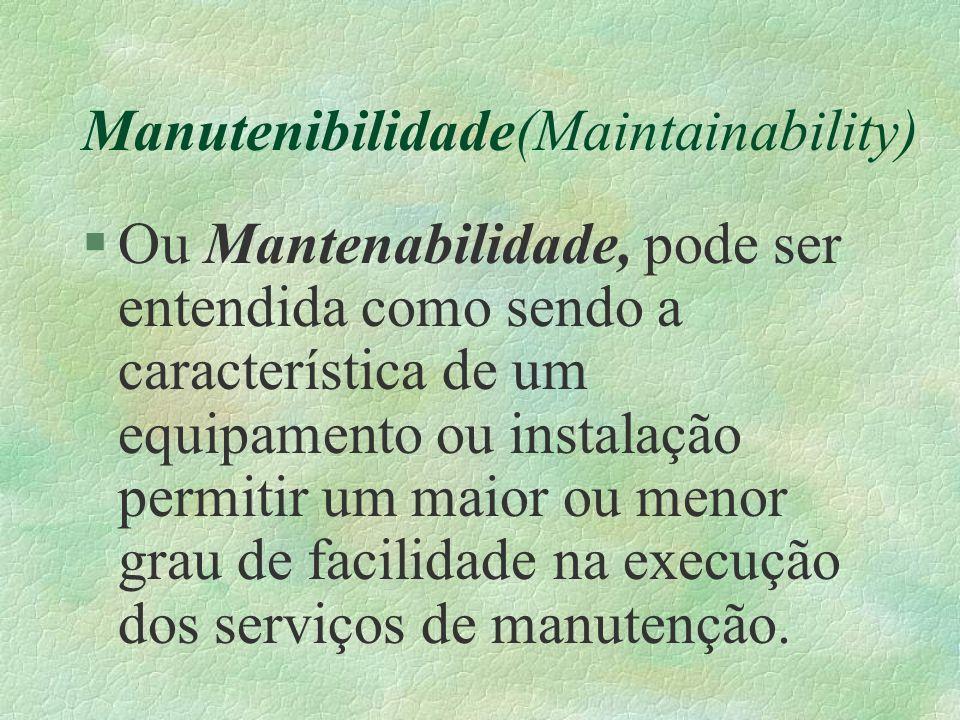 Manutenibilidade(Maintainability)