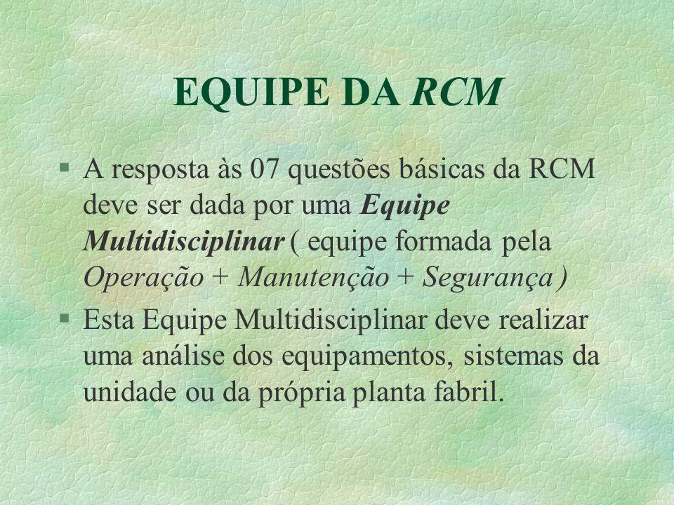 EQUIPE DA RCM
