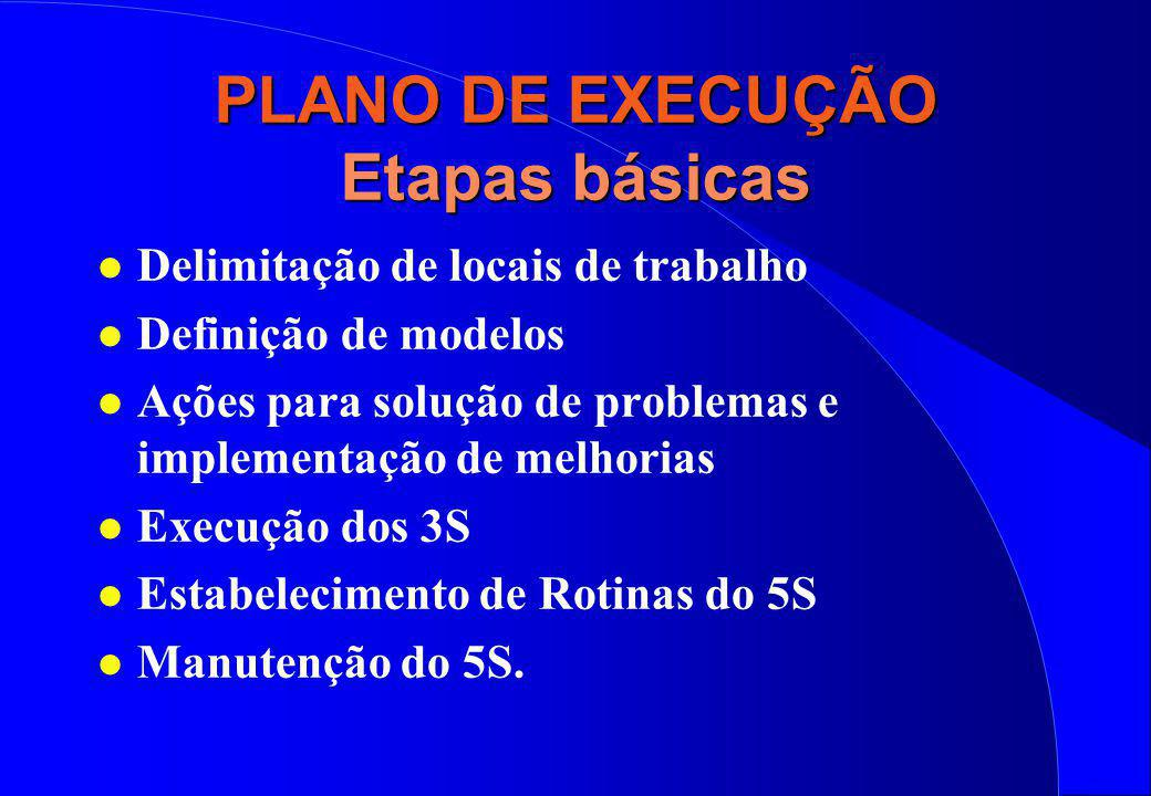 PLANO DE EXECUÇÃO Etapas básicas